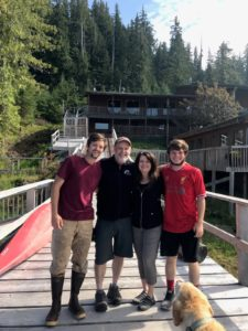 Lucas, Kevin, Lyn & Ethan Ryter - hosts at The Lodge at Whale Pass