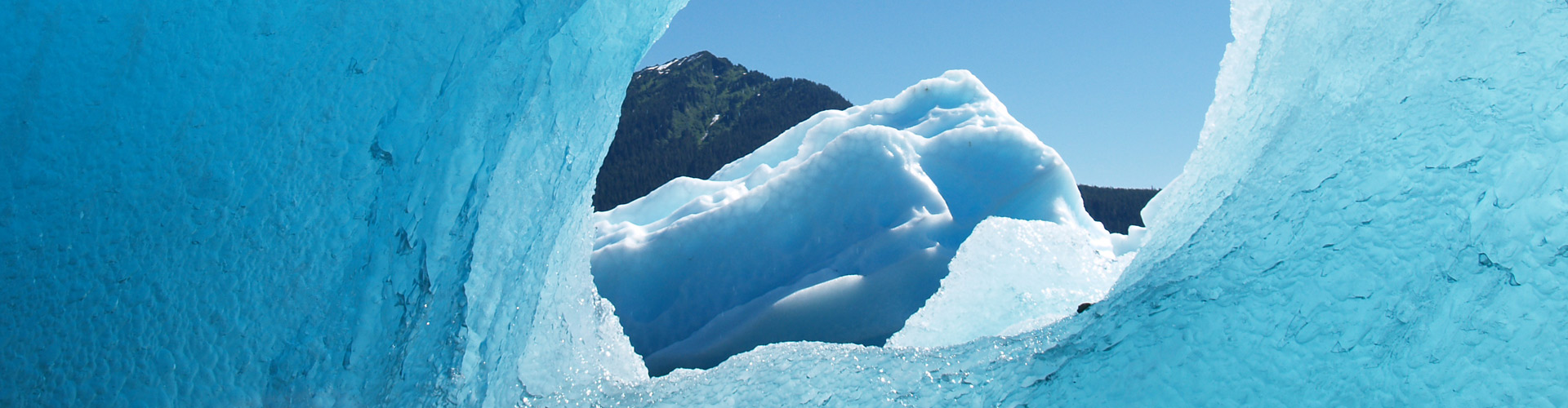 spectacular photo of LeConte Glacier ice with The Lodge at Whale Pass