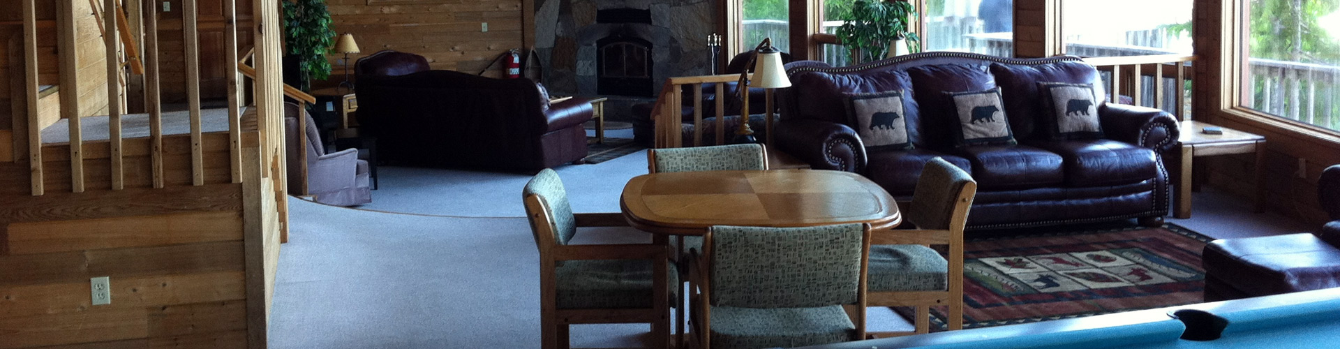 Spacious Recreation and Game Room at The Lodge at Whale Pass in Alaska